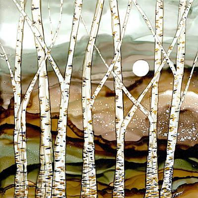 Painting - Grey Mountain Moonrise by Karen Wysopal