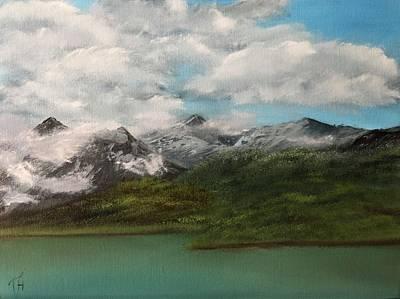 Modern Feathers Art - Grindelwald Switzerland  by Tetyana Hubska