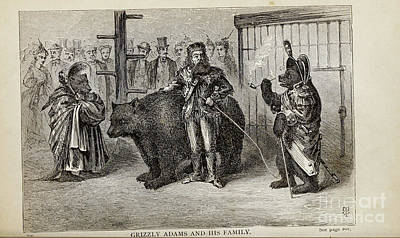 Drawings Royalty Free Images - GRIZZLY ADAMS AND HIS FAMILY, i Royalty-Free Image by Historic illustrations