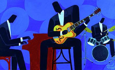 Painting - Groove 'N Blue by Darryl Daniels