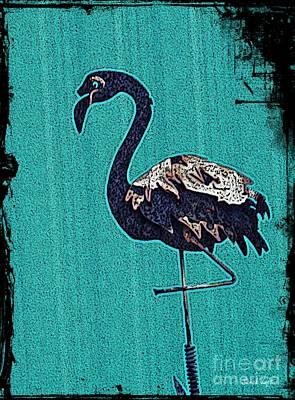 Louis Armstrong - Grunge Flamingo        by Sarah Loft