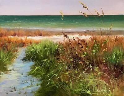 Old Masters Royalty Free Images - Gulf Coast Sea Oats Art Print  Royalty-Free Image by Karim Gebahi
