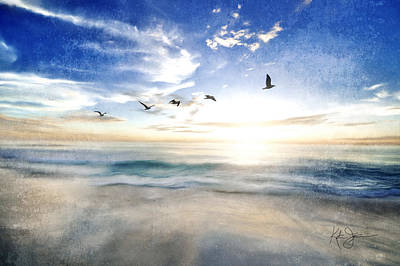 Animals Royalty-Free and Rights-Managed Images - Gull Seascape by Katrina Jones
