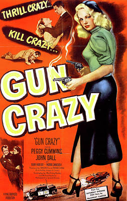 Mixed Media Royalty Free Images - Gun Crazy movie poster Royalty-Free Image by Stars on Art