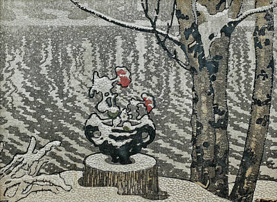 Bringing The Outdoors In - Gustaf Fjaestad, Winter Landscape  10 by Celestial Images