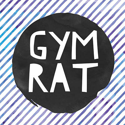 Studio Grafika Vintage Posters - Gym Rat by Brandi Fitzgerald