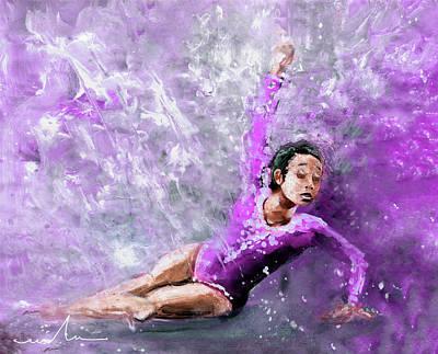 Classic Christmas Movies - Gymnast Katelyn Ohashi 02  by Miki De Goodaboom