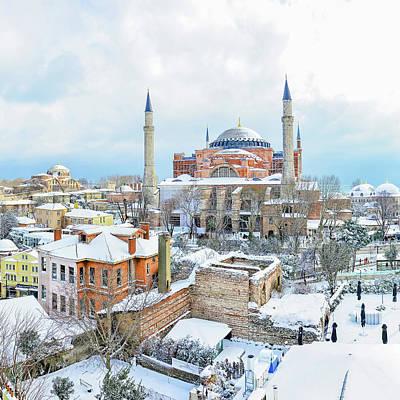 Claude Monet - Hagia Sophia Mosque Istanbul in Winter by Safran Fine Art