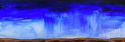 Painting - Hailstorm on a Wheatfield by Kim Morris