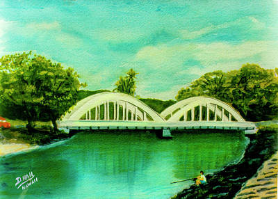 Abstract Oil Paintings Color Pattern And Texture - Haleiwa Bridge North Shore Oahu Hawaii #95 by Donald K Hall