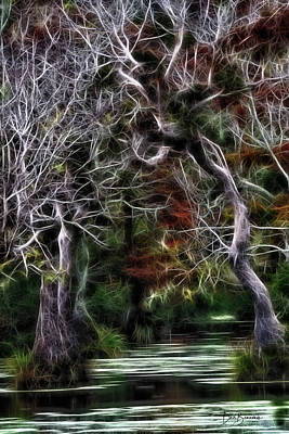 Dan Beauvais Royalty-Free and Rights-Managed Images - Halloween Swamp 6258 by Dan Beauvais
