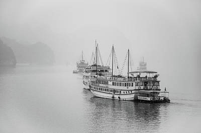 Abstract Animalia Royalty Free Images - Halong Bay Cruising Royalty-Free Image by Rob Hemphill