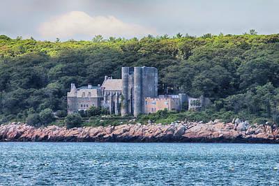 Rose - Hammond Castle from the Ocean near Gloucester Massachusetts by Jeff Folger