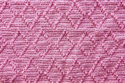 Royalty-Free and Rights-Managed Images - Handmade knitting lozenge pattern background.  by Julien