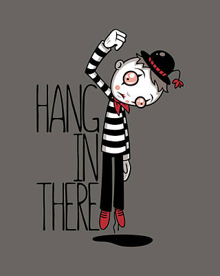 Royalty-Free and Rights-Managed Images - Hang In There Mime by John Schwegel