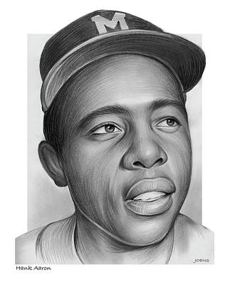 Recently Sold - Sports Royalty-Free and Rights-Managed Images - Hank Aaron by Greg Joens
