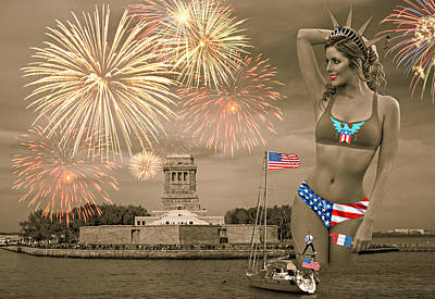 State Word Art - Happy Birthday, America III by Aurelio Zucco