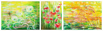 Painting - Happy Colors of Time, Summer by Olga Verasen