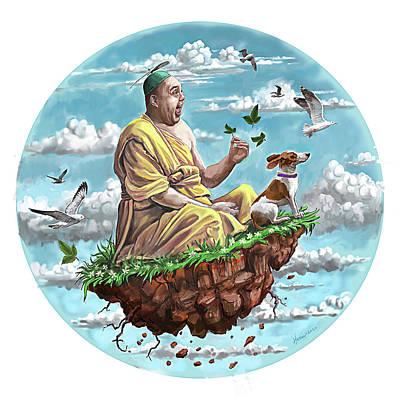 Achieving - Happy Buddha by Frank Harris