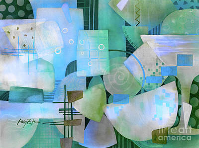 Royalty-Free and Rights-Managed Images - Happy Hour-Blue by Hailey E Herrera