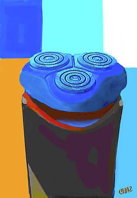 Surrealism Digital Art - Happy Little Shaver by CHAZ Daugherty