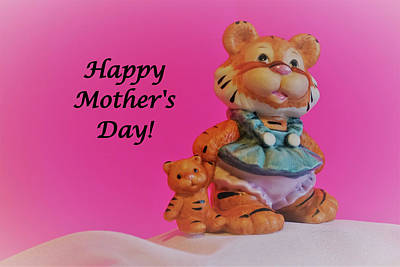 Animals Royalty-Free and Rights-Managed Images - Happy Mothers Day with Mrs. Tiger by Maria Faria Rodrigues