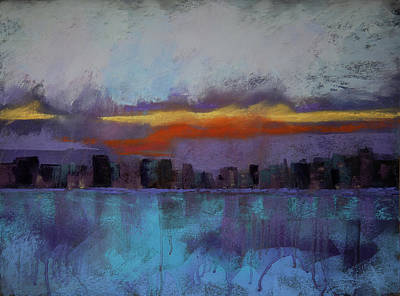 Keith Richards - Harbor Sunset by David Patterson