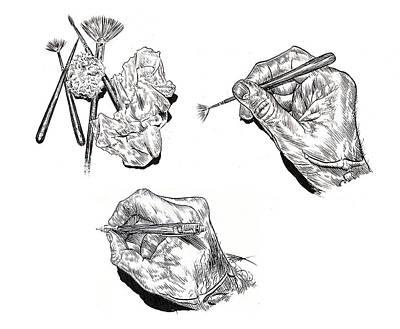 Drawing - Hard at Work by Dan Henk