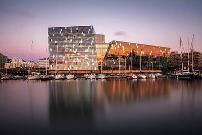 Wild And Wacky Portraits Rights Managed Images - Harpa Reykjavik Concert Hall and Conference Centre Royalty-Free Image by Pierre Leclerc Photography
