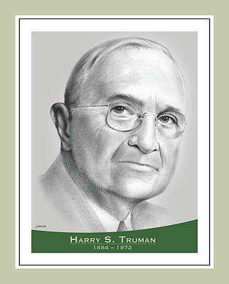 Drawings Royalty Free Images - Harry S Truman - pencil Royalty-Free Image by Greg Joens
