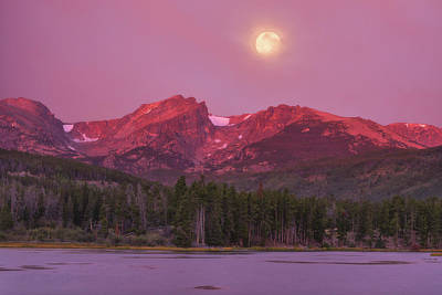 Royalty-Free and Rights-Managed Images - Harvest Moon Over Hallett Peak by Darren White