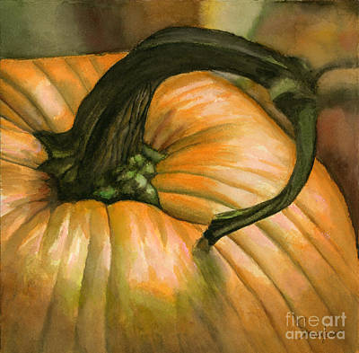 Painting - Harvest Pumpkin by Sonserae Leese