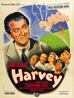 Mixed Media Royalty Free Images - Harvey, with James Stewart, 1950 Royalty-Free Image by Stars on Art