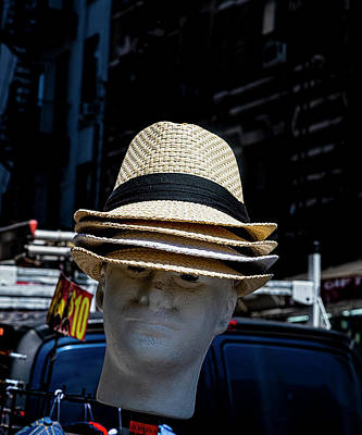Truck Art Rights Managed Images - Hats for Sale Chinatown NYC Royalty-Free Image by Robert Ullmann