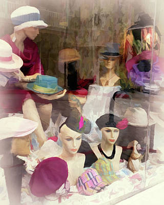 Photograph - Hats on Display by Debbie Smith