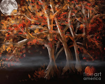 Digital Art - Haunted Forest by Lois Bryan