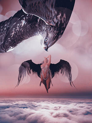 Fantasy Royalty-Free and Rights-Managed Images - Hawk by Mihaela Pater
