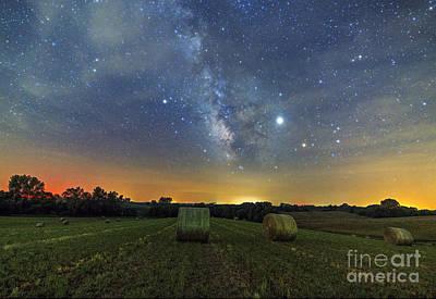Photograph - Hay Field at Night by Willard Sharp