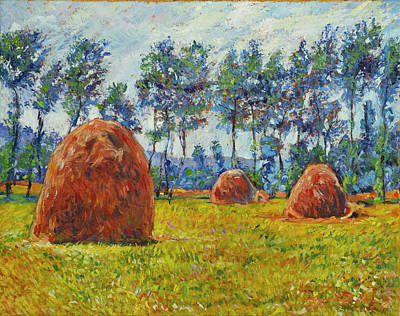 Royalty-Free and Rights-Managed Images - Haystacks by David Lloyd Glover