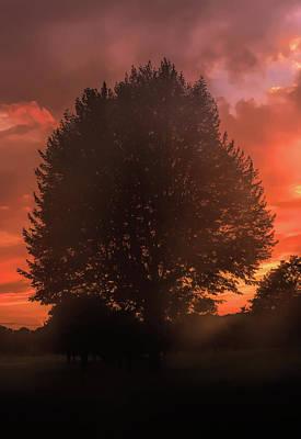Water Droplets Sharon Johnstone - Hazy July Sunset by Jason Fink