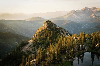 Photograph - Hazy Morning in the Wasatch Mountains by James Udall