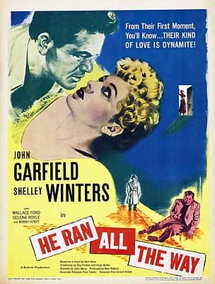 Royalty-Free and Rights-Managed Images - He Ran All the Way, with John Garfield and Shelley Winters, 1951 by Stars on Art