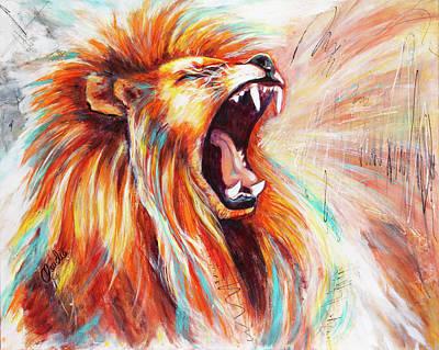 Painting - He Roars by Claudia Klann
