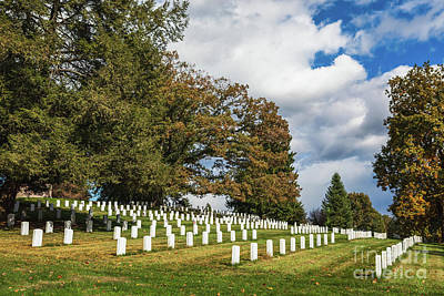 Caravaggio - Headstones at Soldiers National Cemetery at Gettysburg by Leslie Banks