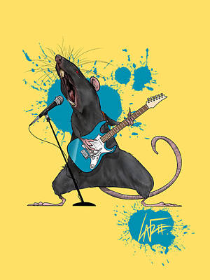 The Beach House - Heavy Metal Rat by Canine Caricatures Custom Merchandise