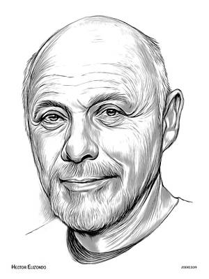 Drawings Rights Managed Images - Hector Elizondo 2 Royalty-Free Image by Greg Joens