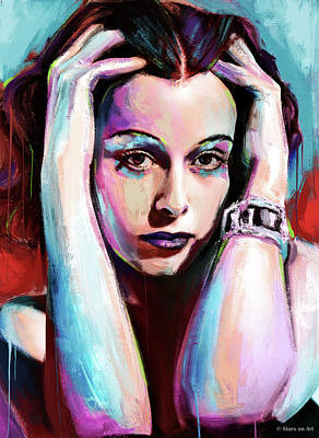 Stone Cold - Hedy Lamarr painting by Stars on Art