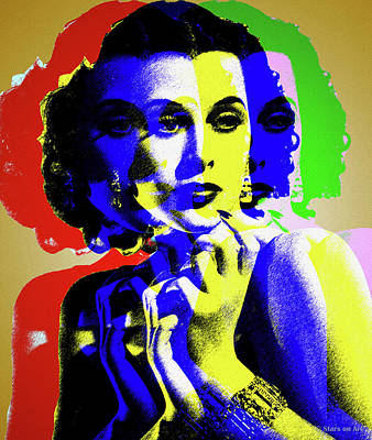 Train Paintings Rights Managed Images - Hedy Lamarr Royalty-Free Image by Stars on Art