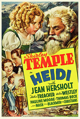 Royalty-Free and Rights-Managed Images - Heidi, with Shirley Temple, 1937 by Stars on Art