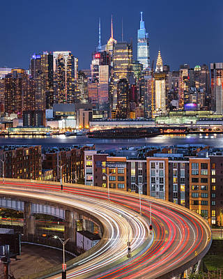 Kim Fearheiley Photography Royalty Free Images - Helix and NYC Skyline Royalty-Free Image by Jerry Fornarotto